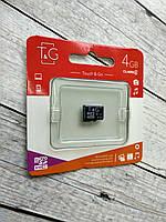 Micro SD 4Gb T&G Class4 без ад.