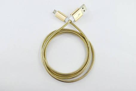 Кабель Usb Micro USB 4you Bagmati (2000mah, метал, золото), фото 2