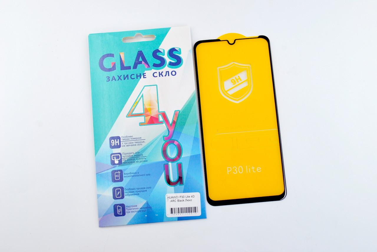 Защитное стекло Huawei Y5 (2019) 4D ARC Black Люкс 4you