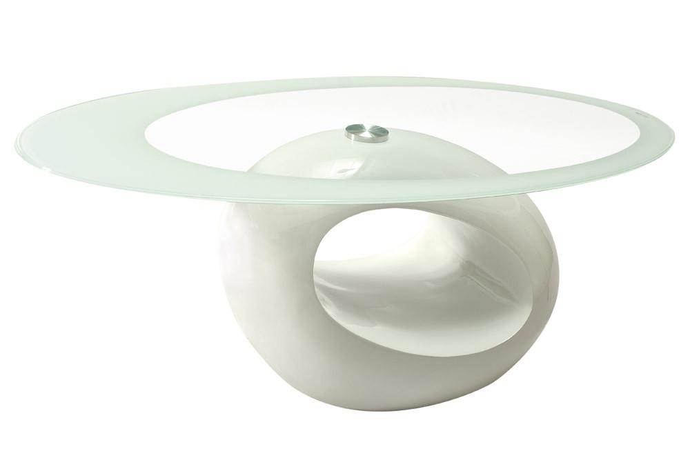 Журнальный стол ETNA прозрачный/белый лак 110x60x45 (Signal)