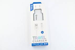 Зарядное устройство INKAX CD-08 1A 1 Usb + кабель Micro USB white