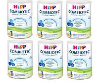 Детская сухая молочная смесь HiPP Combiotiс 1 начальная , 6х750 г