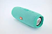 Портативная колонка JBL Charge 3 (Bluetooth, FM, USB, 2 динамика, Soft touch) mint