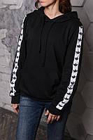 Худи Адидас черный с белым, фото 1
