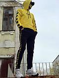 Худи унисекс в стиле Off White Cross желтое, фото 3