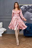 Шикарное шелковое платье на запах с цветочным принтом с 42 по 48 размер