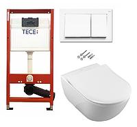 Инсталляция TECE с подвесным унитазом SUBWAY 2.0 + крышка Slimseat Softclose