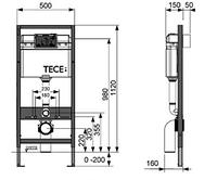 Інсталяція TECE з підвісним унитазомбез обідка CATALANO NEW LIGHT Newflush + кришка Softclose, фото 1