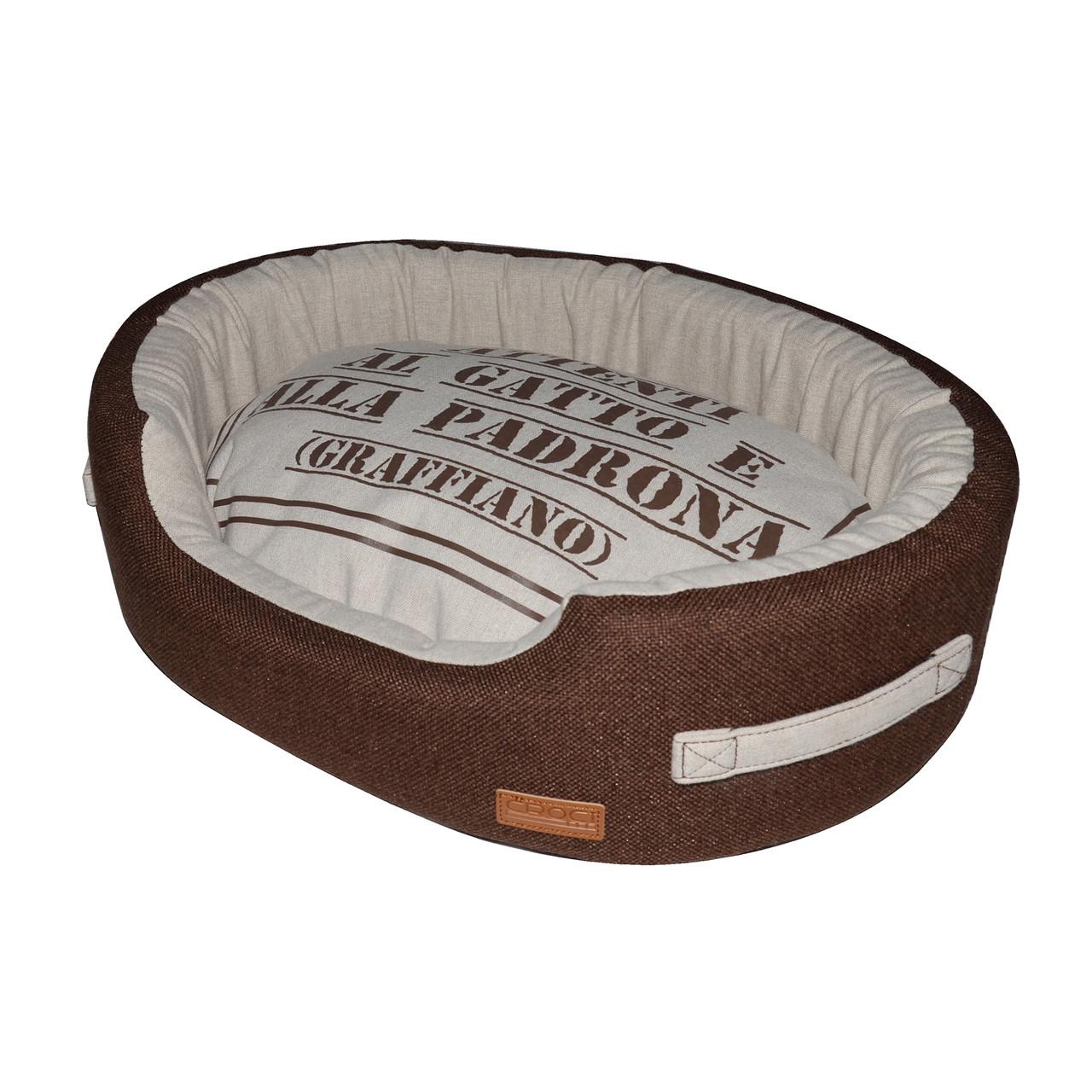 Лежак для животного Family, коричневый/беж, 58x40x15см *