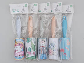 """Ролик-липучка для чистки одежды на 60 листов, голубого цвета """"Фламинго"""", фото 3"""