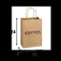Крафтовый пакет с Вашим логотипом 150х90х240