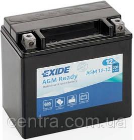 Мото аккумулятор EXIDE AGM12-12