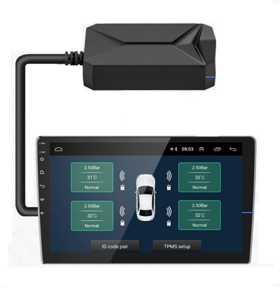 Система контролю тиску в шинах ZIRY TPMS-USB for Android 4-и колесa, зовнішні датчики