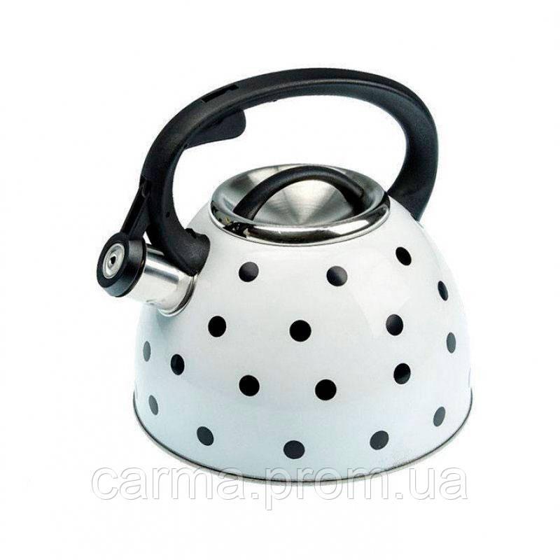 Чайник Unique со свистком  UN-5301 White 2,5л