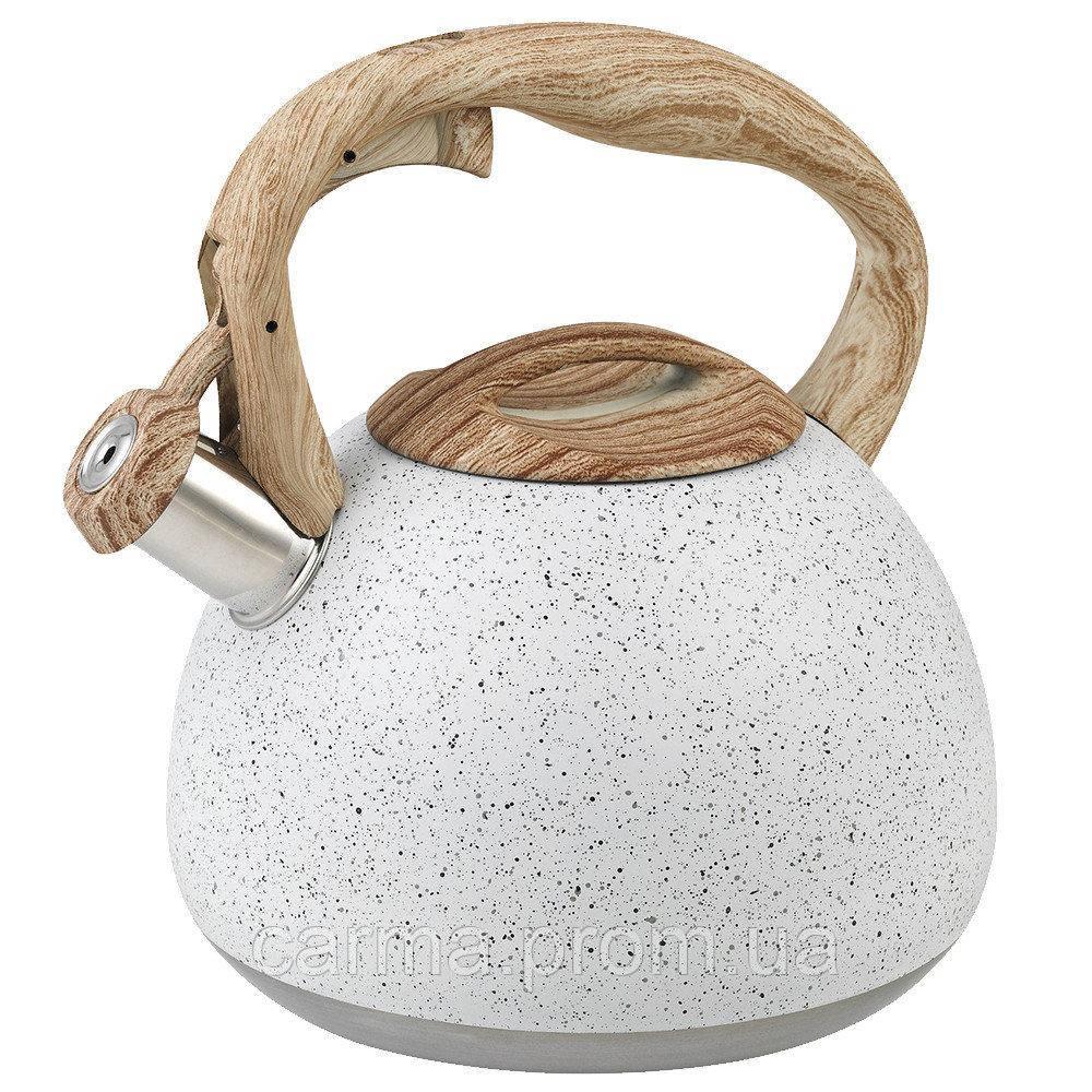Чайник Unique  со свистком UN-5306  White 2,7л