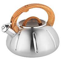Чайник  Unique со свистком UN-5303 Brown 3,0л