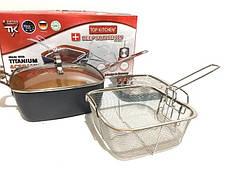 Сковородка-фритюрница Unique UN-5251-24cm, фото 2