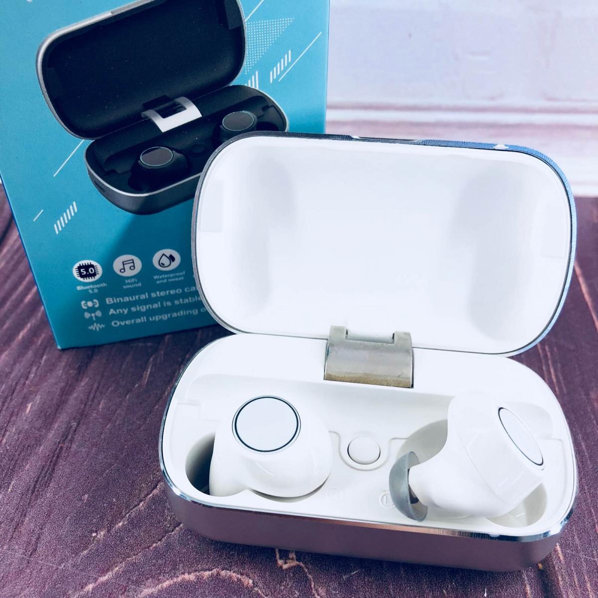 Вакуумні Bluetooth навушники Tws S8 з кейсом Білі