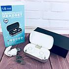 Вакуумні Bluetooth навушники Tws S8 з кейсом Білі, фото 2