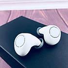Вакуумні Bluetooth навушники Tws S8 з кейсом Білі, фото 3