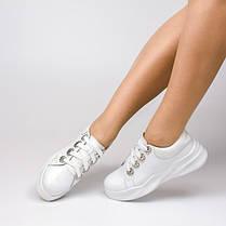Кеды белые с брошками 007-01, фото 3