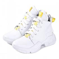 Кроссовки белые высокие 001-01, фото 3
