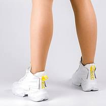 Кроссовки белые высокие 001-01, фото 2