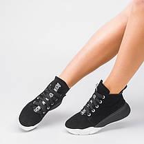 Кроссовки высокие черная замша 001-03, фото 3
