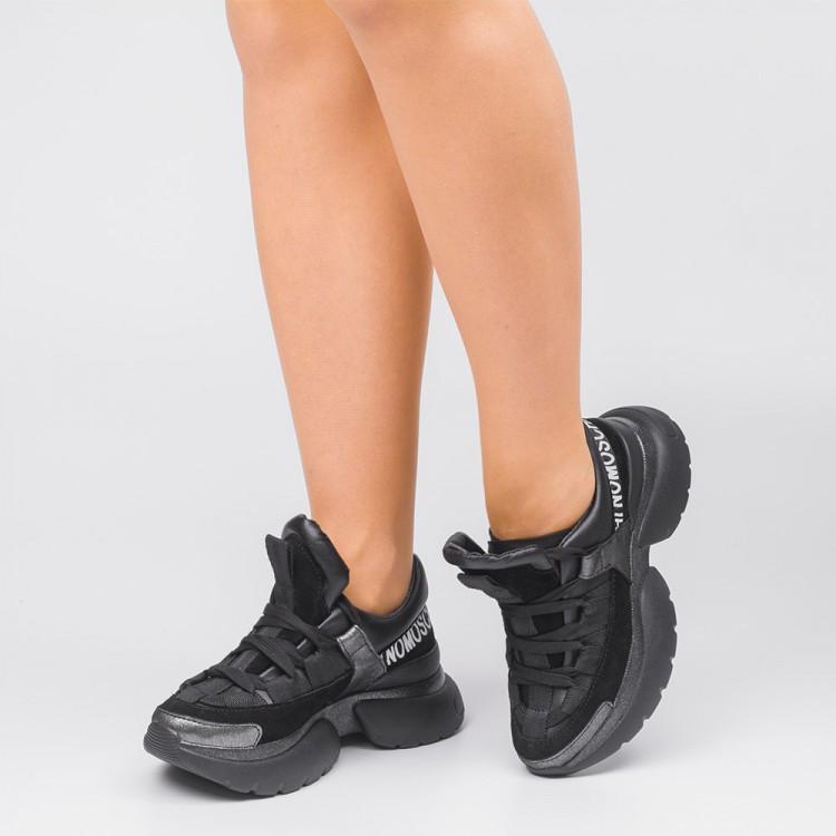 Кроссовки черные массивные 009-00