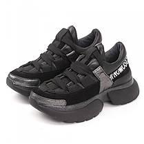 Кроссовки черные массивные 009-00, фото 3