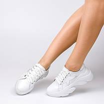 Кроссовки массивные белые 804-11, фото 3