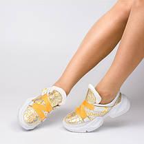 Кроссовки с желтыми ремешками 930-04, фото 3