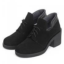 Туфли замшевые на удобном каблуке 002-03, фото 2
