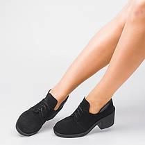 Туфли замшевые на удобном каблуке 002-03, фото 3