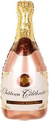 Фол шар фигура Бутылка шампанского Розовое золото (Китай)