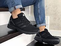 Мужские кроссовки Adidas ZX Flux (Адидас Зет Икс Флюкс), черные, код SD-9063