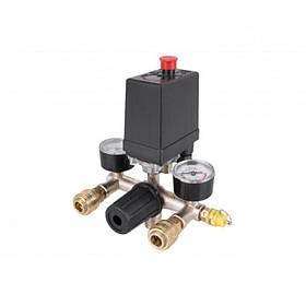 Автоматика для компрессора 380В 20А в сборе, прессостат, реле SKL11-236608