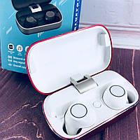 Вакуумные Bluetooth наушники Tws S8 с кейсом Красные, фото 1