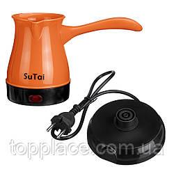 Электрическая кофеварка, турка Sutai 168 500 мл, Оранжевый