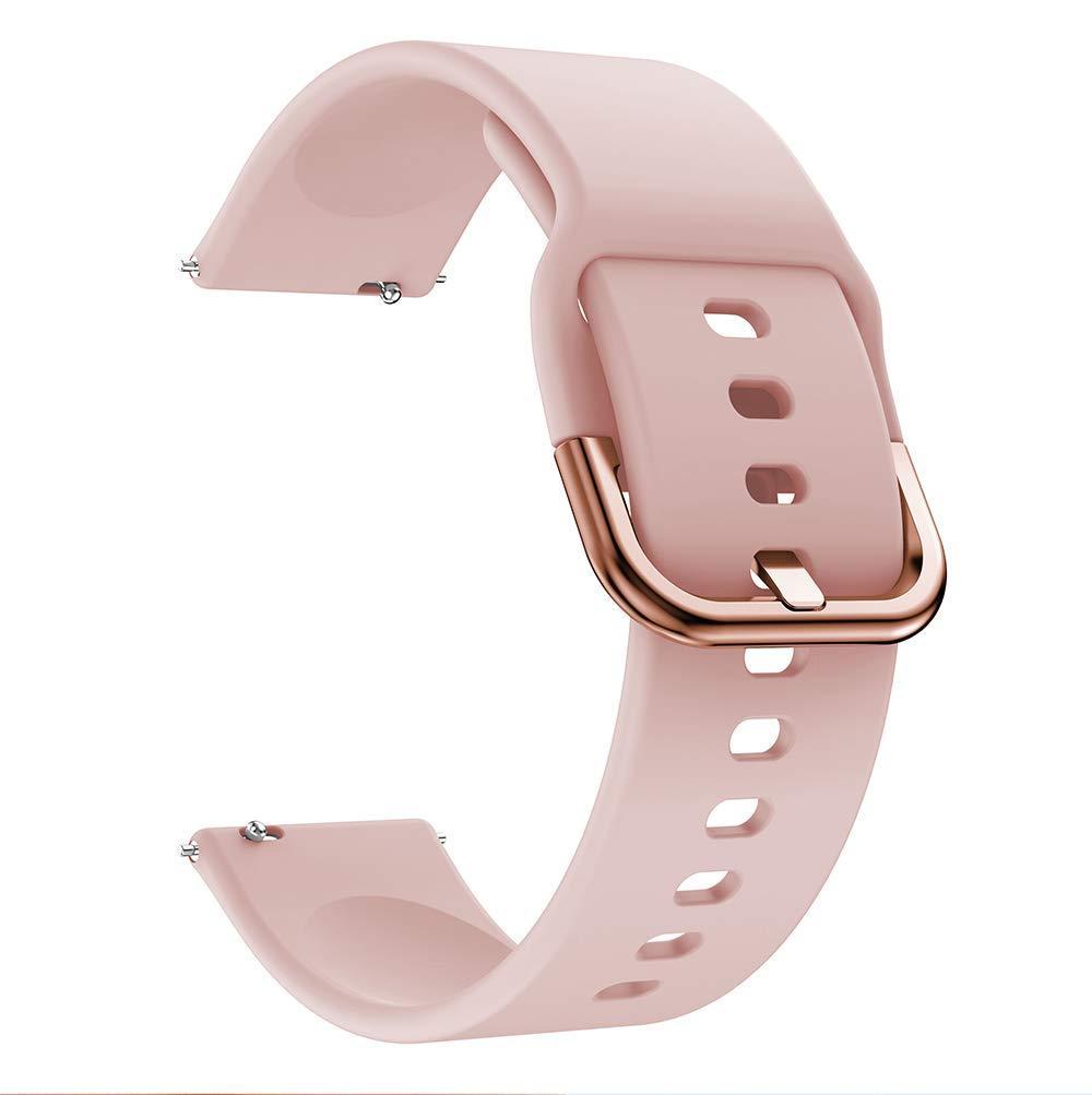 Ремешок силиконовый BeWatch New шириной 20мм универсальный Розовый (1012311)