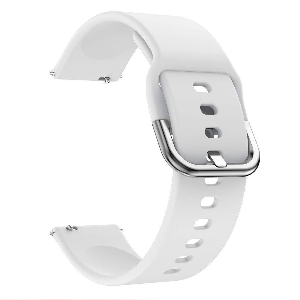 Ремешок силиконовый BeWatch New шириной 20мм универсальный Белый (1012302)