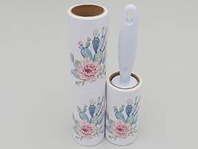 """Ролик-липучка для чистки одежды на 60 листов сдвумя сменными кассетами, белого цвета """"Кактус, фото 2"""