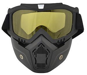 Маска защитная для сноубордистов и лыжников Vjtech Желтая 152693