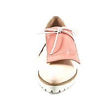 Туфли женские Tutto Shoes T3310 розовая кожа (36), фото 3