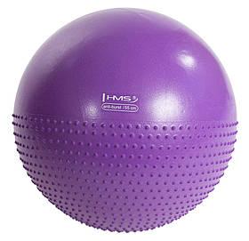 Мяч для фитнеса, фитбол полумассажный Hms YB03 55 см Anti-Burst Purple SKL41-227365