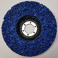 """Зачистной круг  """"Водоросли"""" из неткан. абразива, синий, 125*22 мм"""
