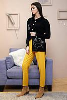 Стильная удлиненнаярубашка с вышивкой 1327 (42–48р) в расцветках, фото 1