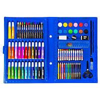 Набор для рисования для мальчиков 86 предмета Голубой 154688