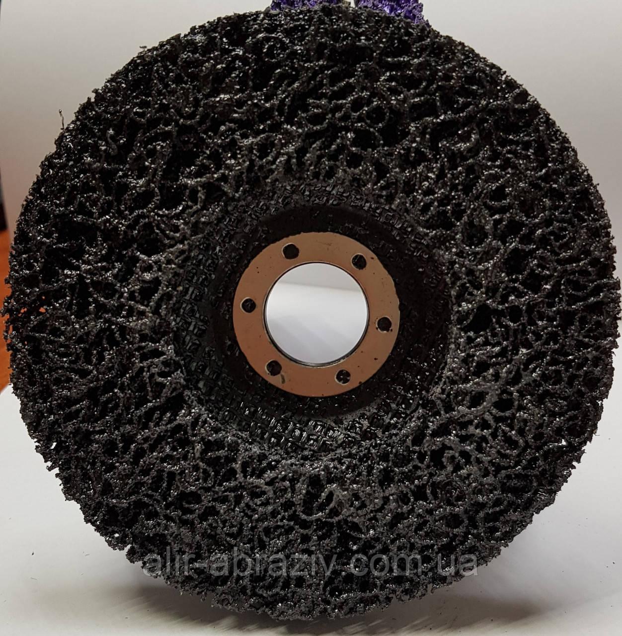 """Зачистной круг  """"Водоросли"""" из неткан. абразива, чорный, 125*22 мм"""