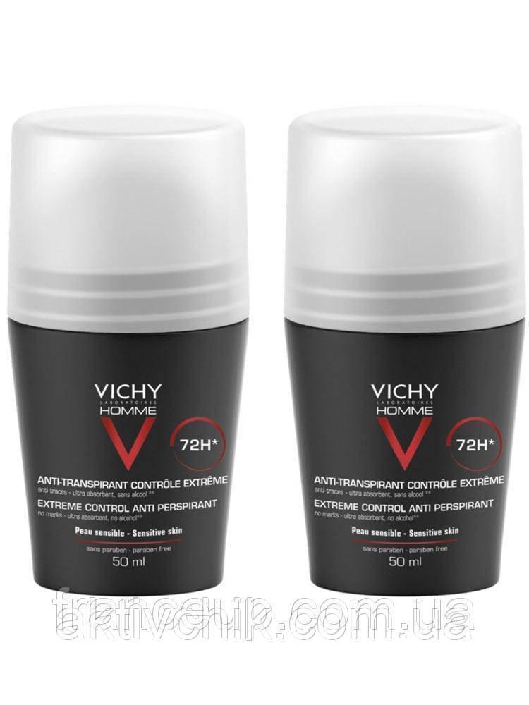 Набор Мужской дезодорант Vichy Homme 72HR Anti-Perspirant Deodorant Extreme Control 2 x 50ml